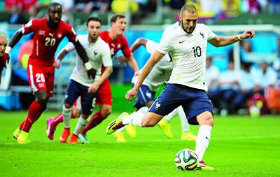 FOOTBALL : Suisse vs France - Coupe du Monde 2014 - 20/06/2014